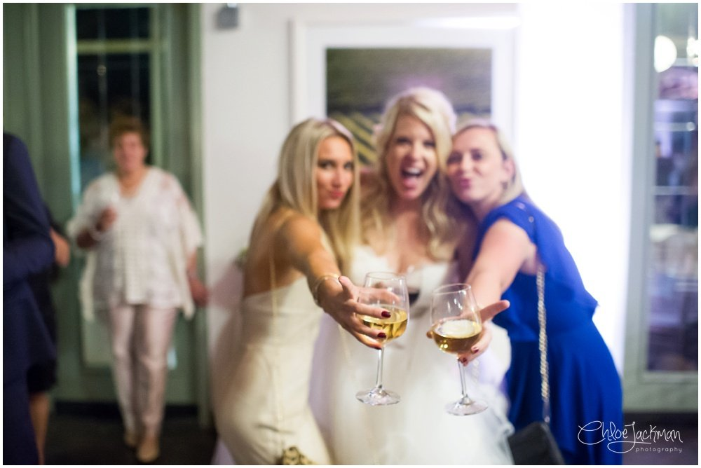 bride and wedding gets cheers