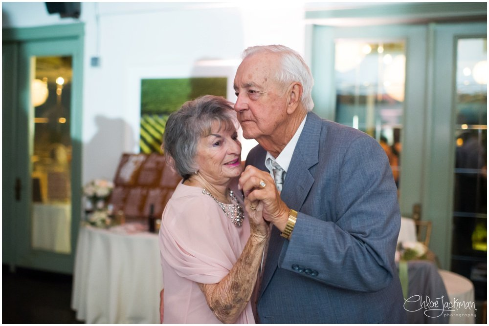 grandparents dancing at wedding