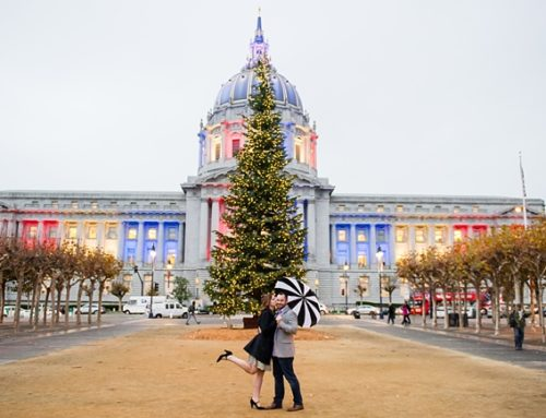 Just a Peek | Stacey & Thomas' Rainy SF Engagement
