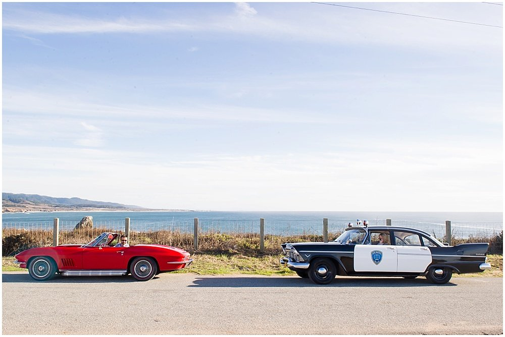 Classic Car and Vintage Cop Police Car