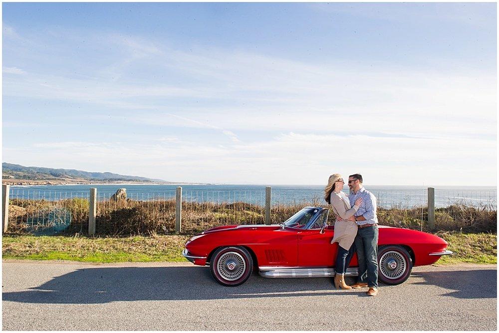 Classic Car Engagement Photos