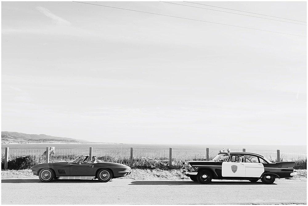 classic antique vintage car cop car