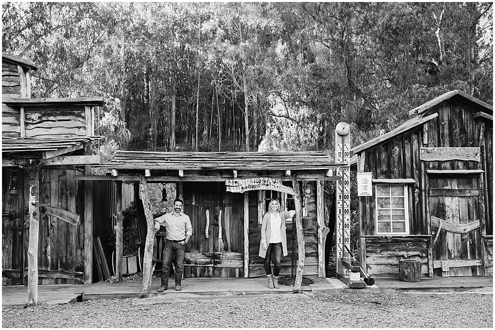 Saloon engagement photos old western