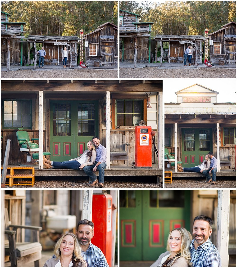 old west town mining town engagement session