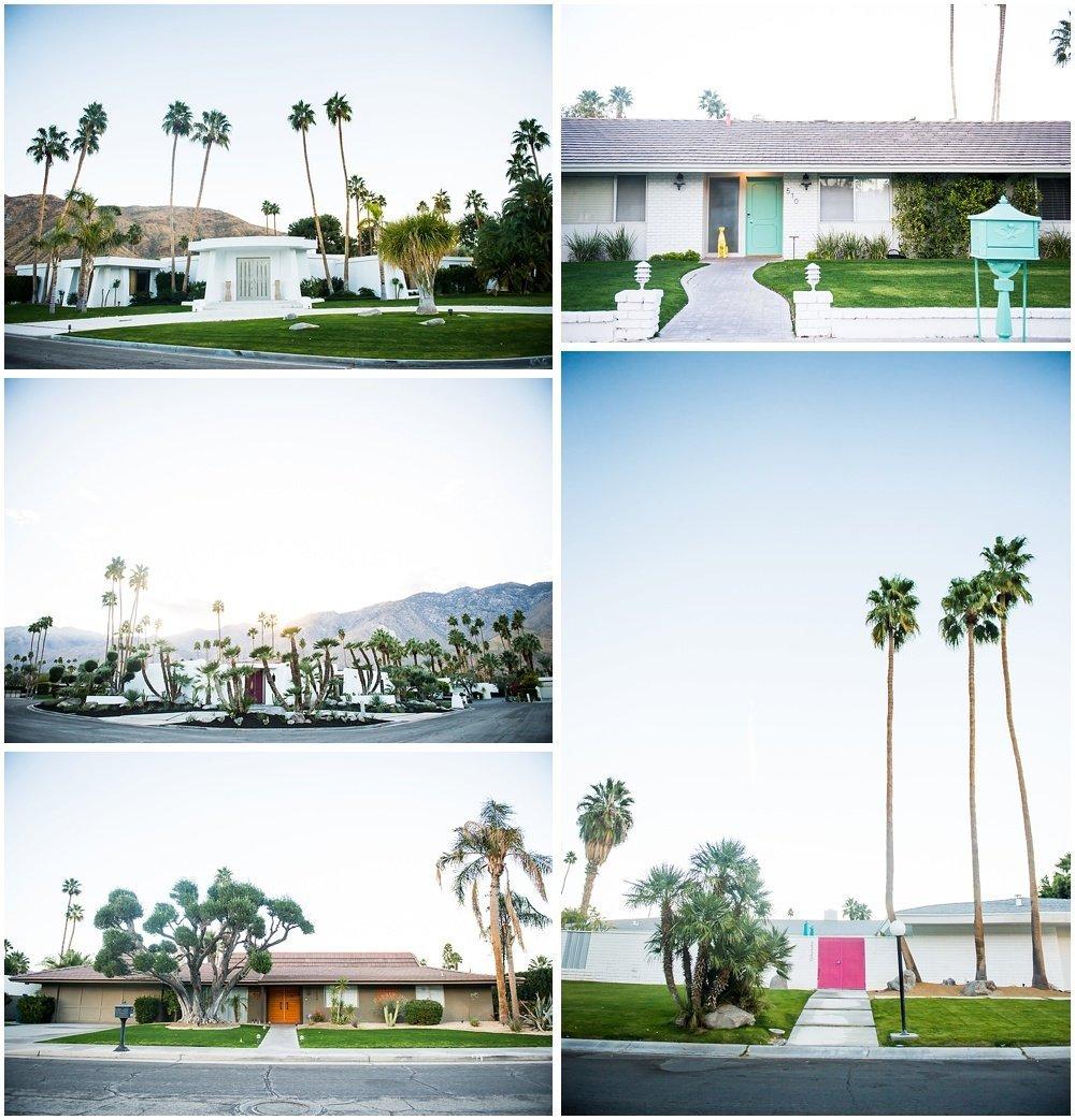 Colored doors in Palm Springs CA