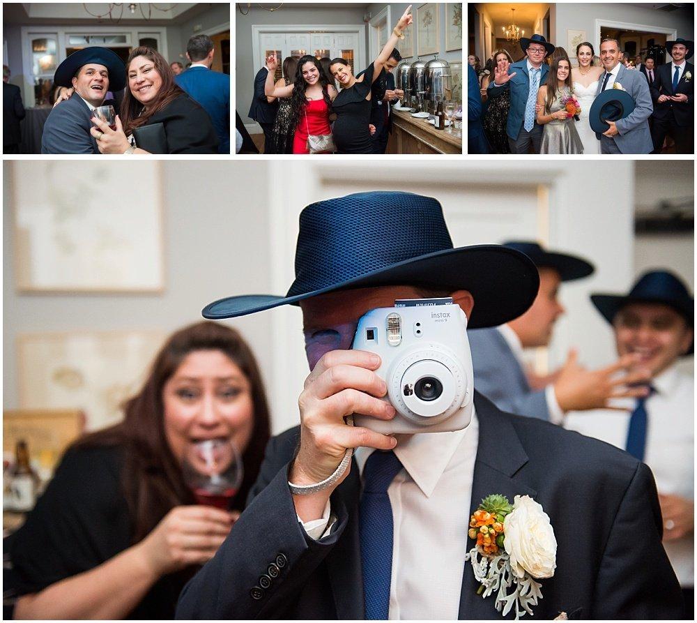 Polaroid fun at General's Daughter wedding