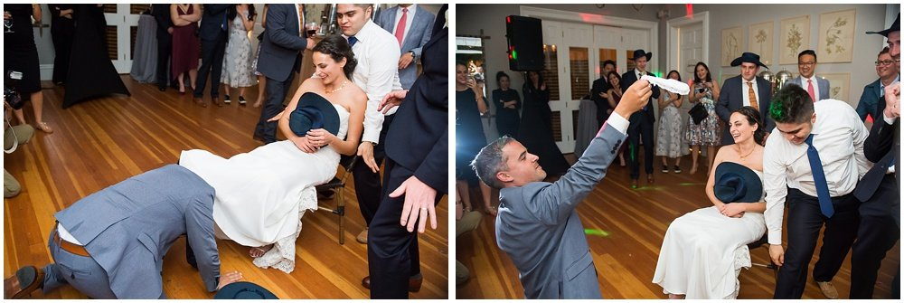 Guarder toss at General's Daughter wedding