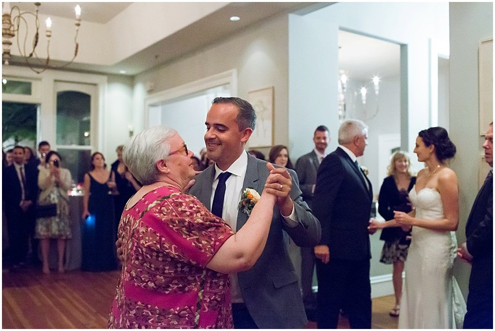 Groom and mom dance at General's Daughter wedding