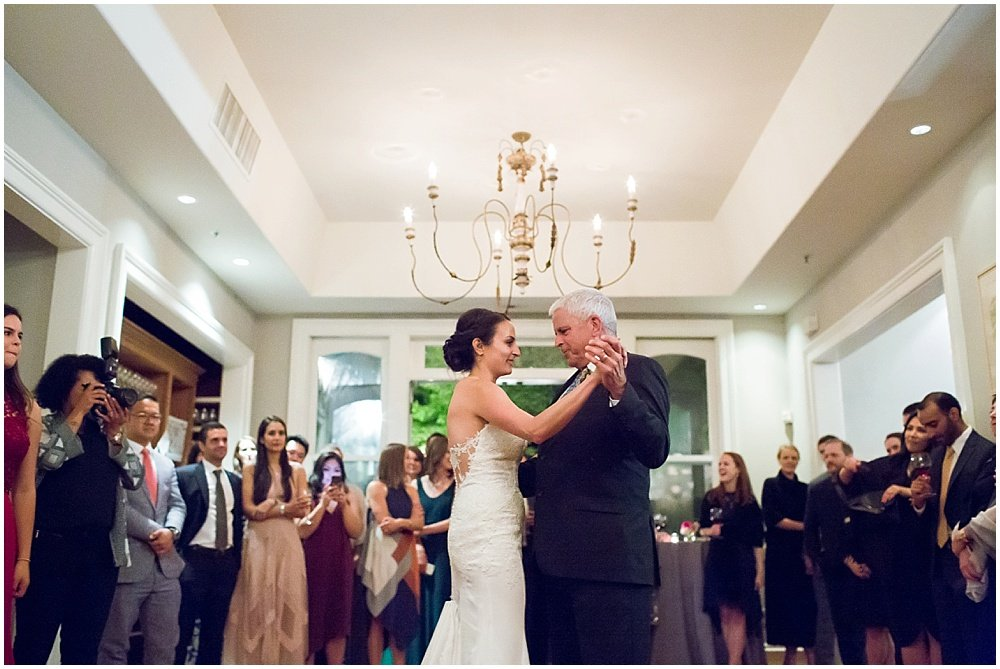 father daughter dance at General's Daughter wedding by Chloe Jackman Photography