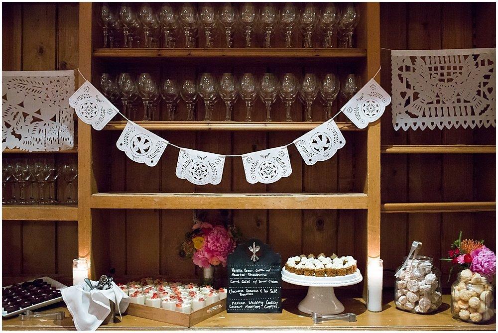 Desserts at General's Daughter wedding
