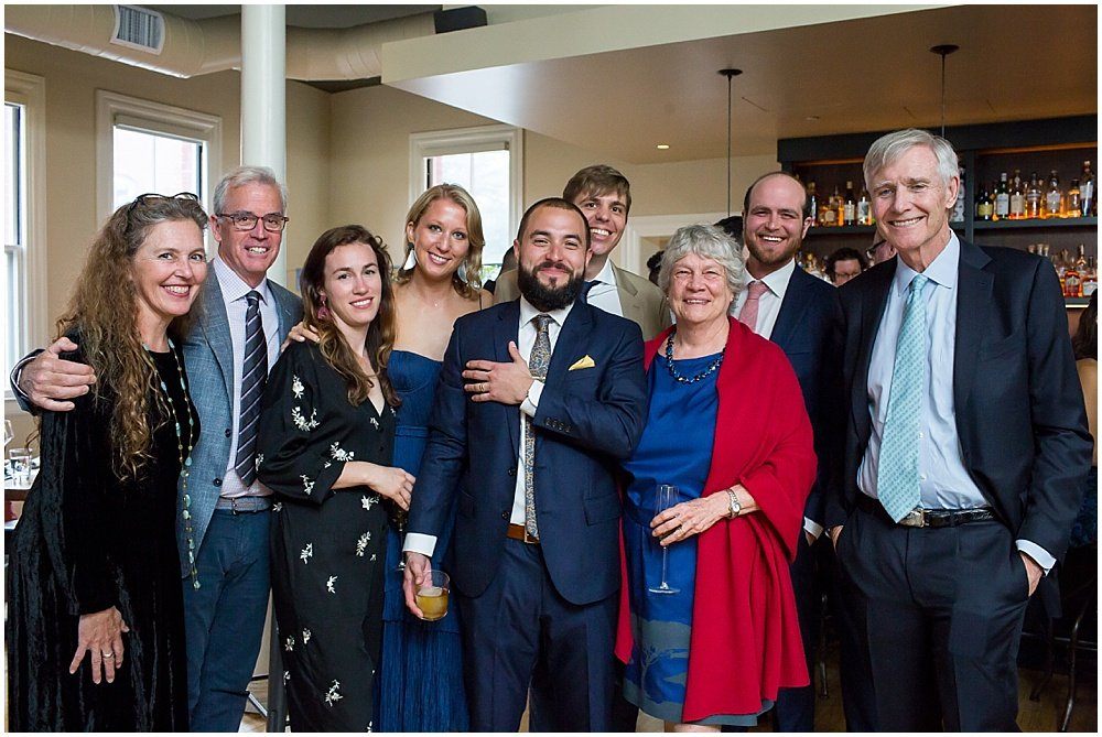 groom family photo at the commissary wedding in san francisco