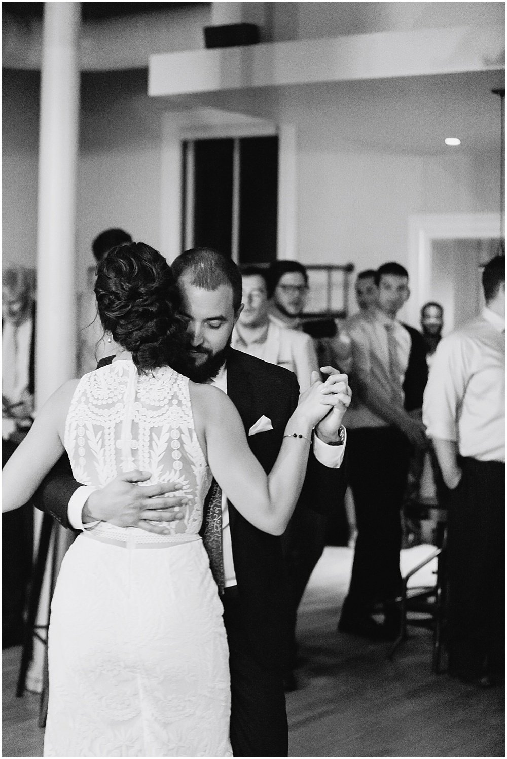 Bride and groom first dance at the commissary wedding in san francisco by chloe jackman photography