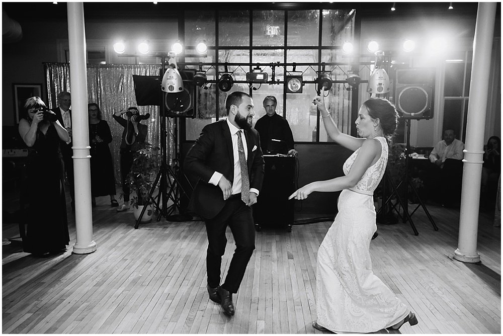 Bride wins dance off at the commissary wedding in san francisco by chloe jackman photography