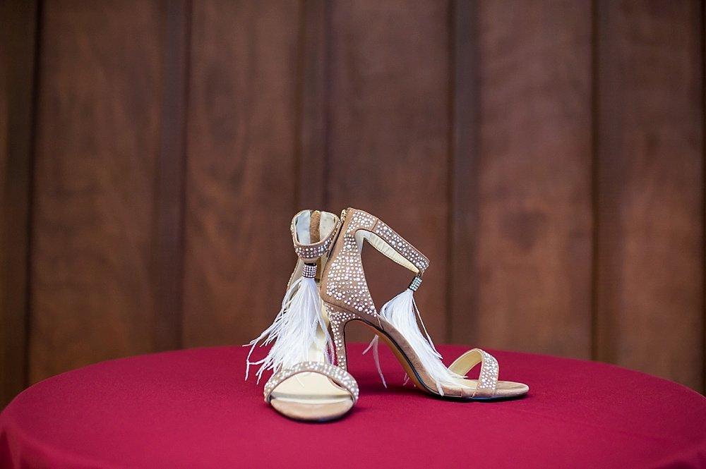 Jimmy Choo wedding shoes at hans fahden winery wedding