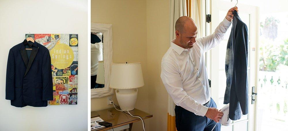 Groom getting ready for hans fahden winery wedding