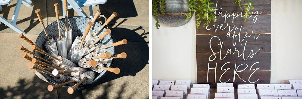 Sun umbrellas for hans fahden winery wedding