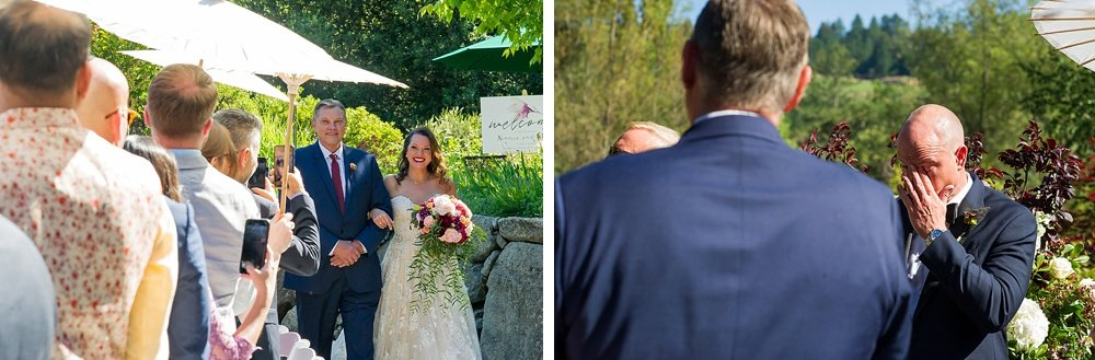 groom tears up at hans fahden winery wedding