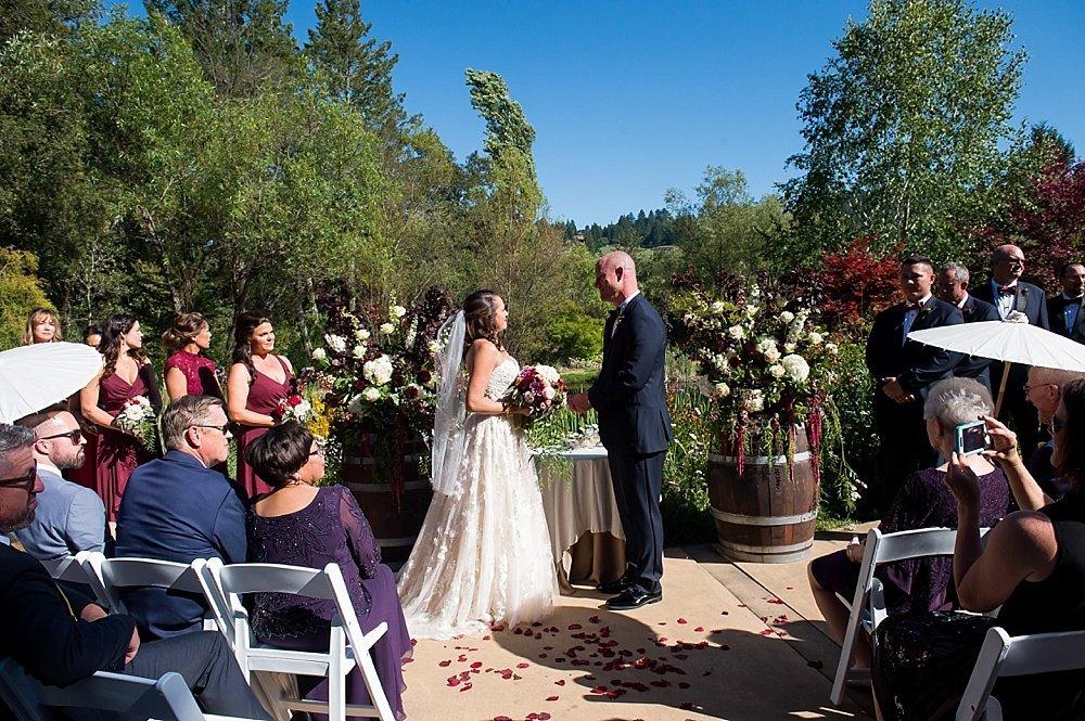 Vows at hans fahden winery wedding by chloe jackman photography