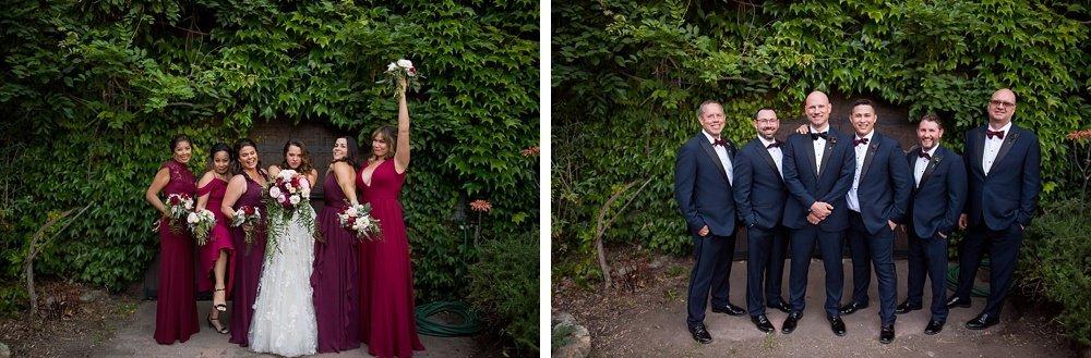 full bridal party and groomsmen photo shoot at hans fahden winery wedding