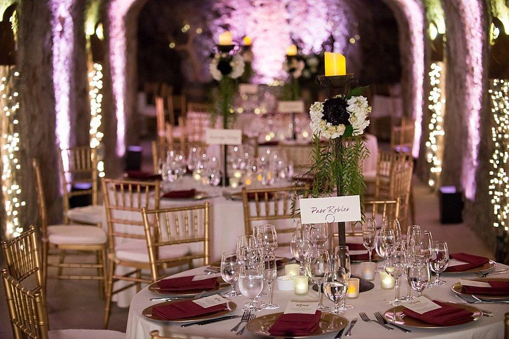 dinning room venue shots of hans fahden winery wedding
