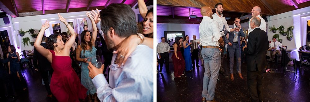 Hands in the air like you just don't care at hans fahden winery wedding