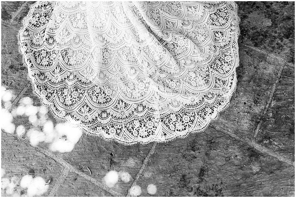 wedding dress lace details at midsummer Sebastopol wedding