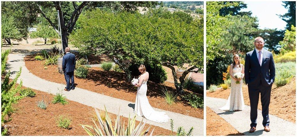 Bridal reveal before midsummer Sebastopol wedding