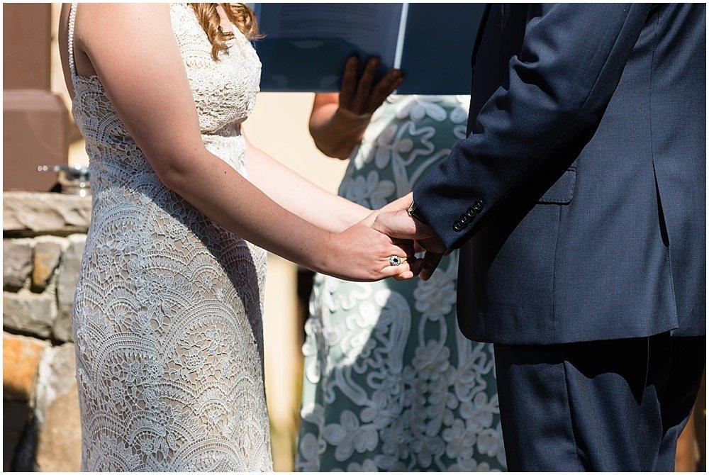 holding hands at midsummer Sebastopol wedding