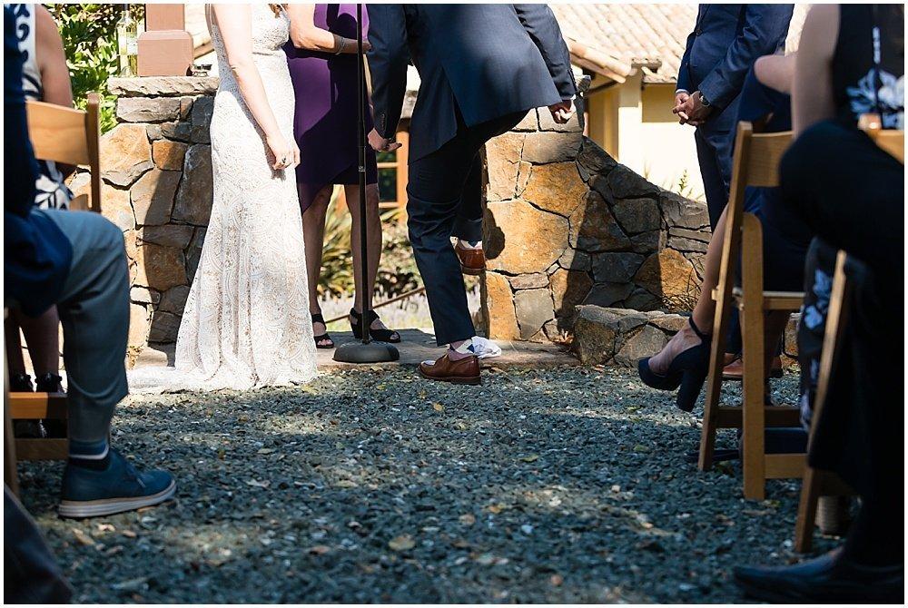 glass breaking ceremony at midsummer sebastopol wedding