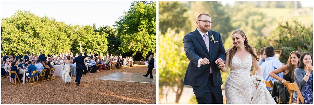 bride and groom dance at midsummer sebastopol wedding by chloe jackman photography