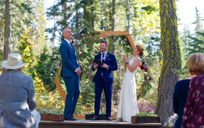 Gray Eagle wedding ceremony by chloe jackman photography