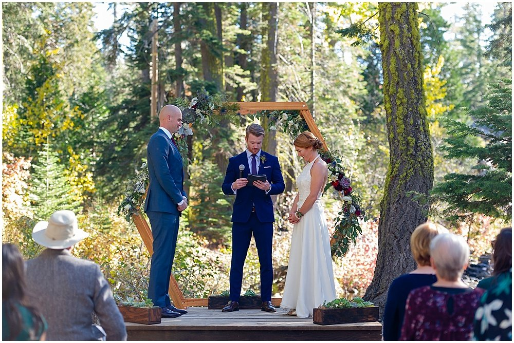 bride and groom at gray eagle lodge wedding