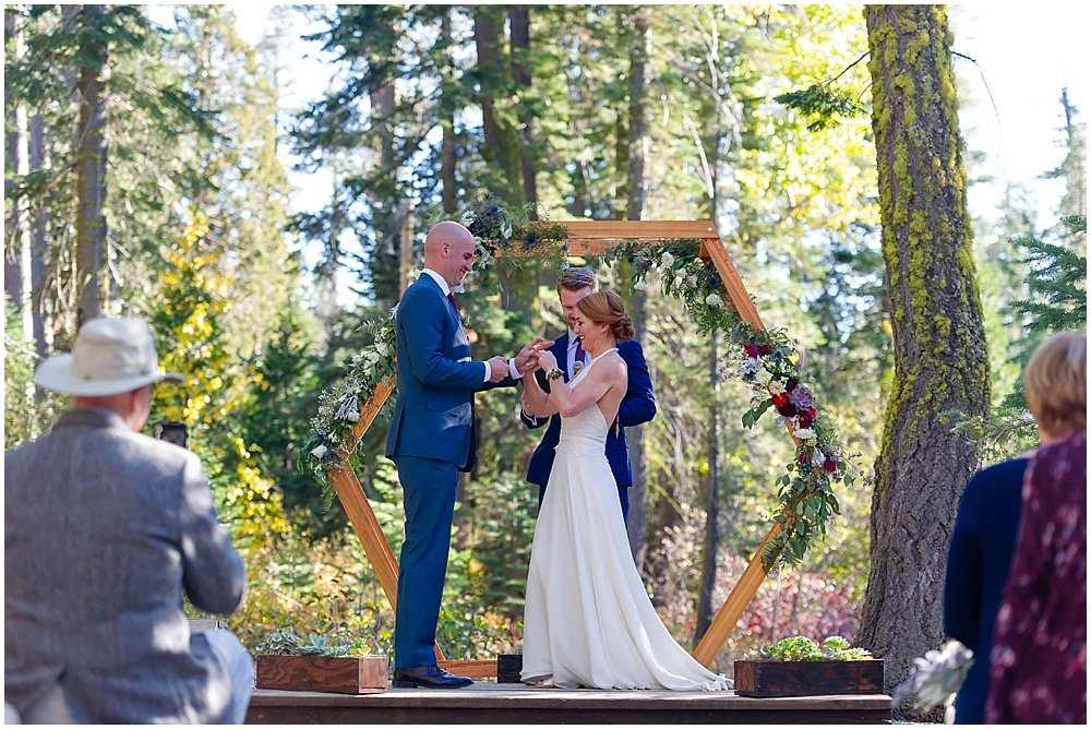 ring exchange at gray eagle lodge wedding
