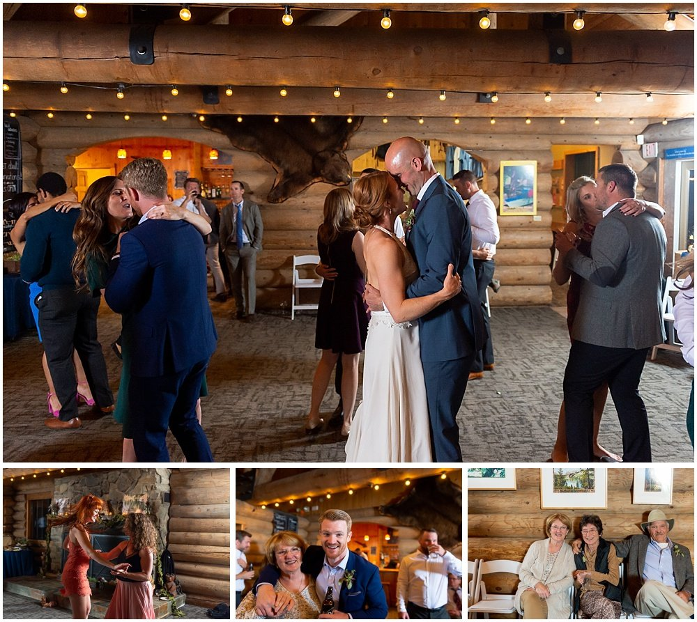 bride and groom couples dance at gray eagle lodge wedding