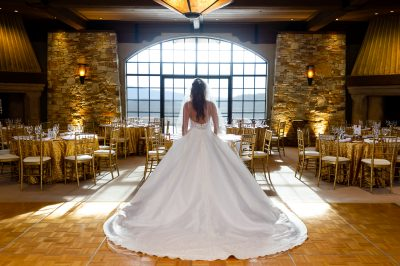 bride Silhouette at Tehama Gold Club Wedding by chloe jackman photography