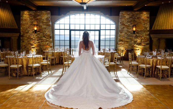 bride Silhouette at Tehama Gold Club Wedding by chloe jackman photography