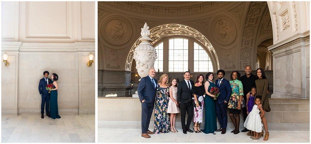 Cute family photo at San Francisco City Hall Wedding