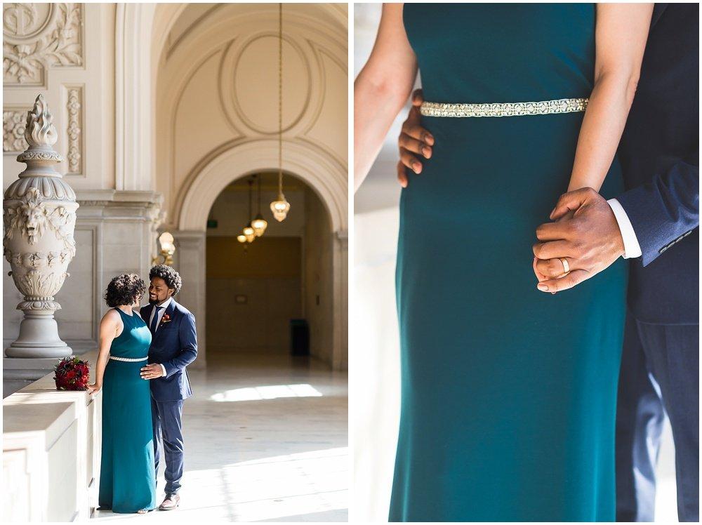 Close up of rings at San Francisco City Hall Wedding