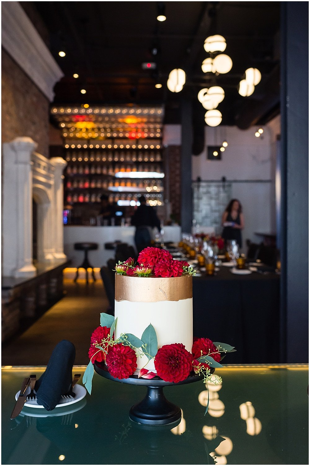 Cake shot after San Francisco City Hall Wedding at Hotel Zeppelin