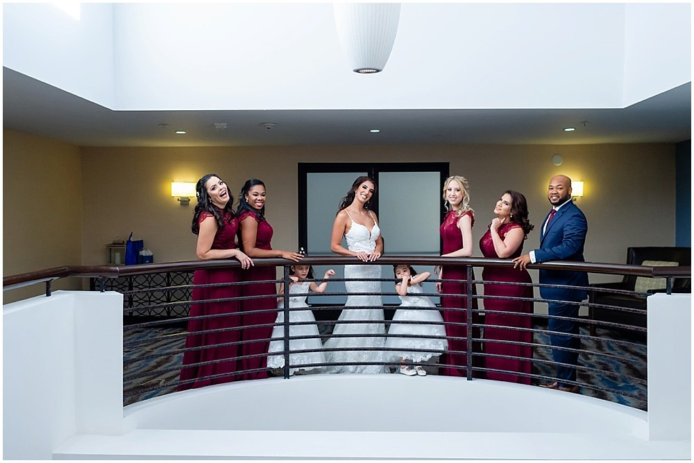 Bridal party at Tehema Golf Club wedding by chloe jackman photography
