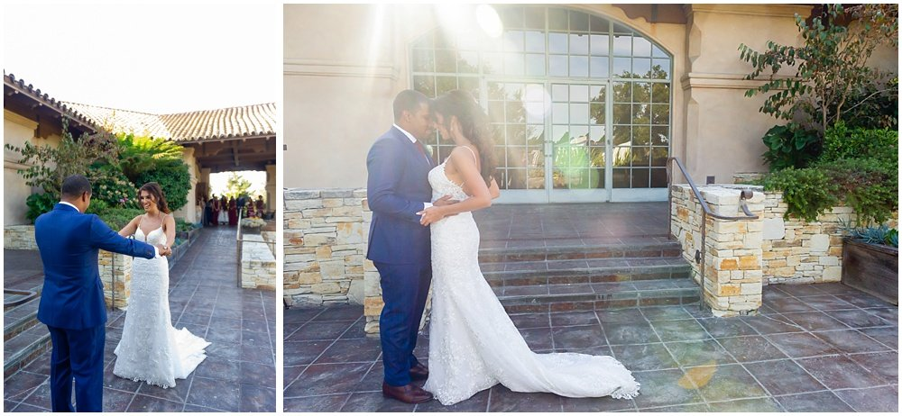 more first look at tehama golf club wedding