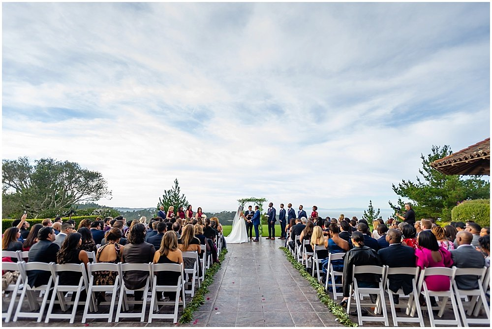 Wide shot of tehama golf club wedding by chloe jackman photography
