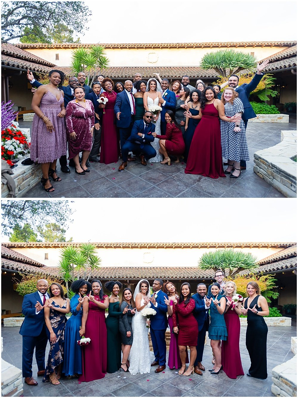 more funny group photos at tehama golf club wedding