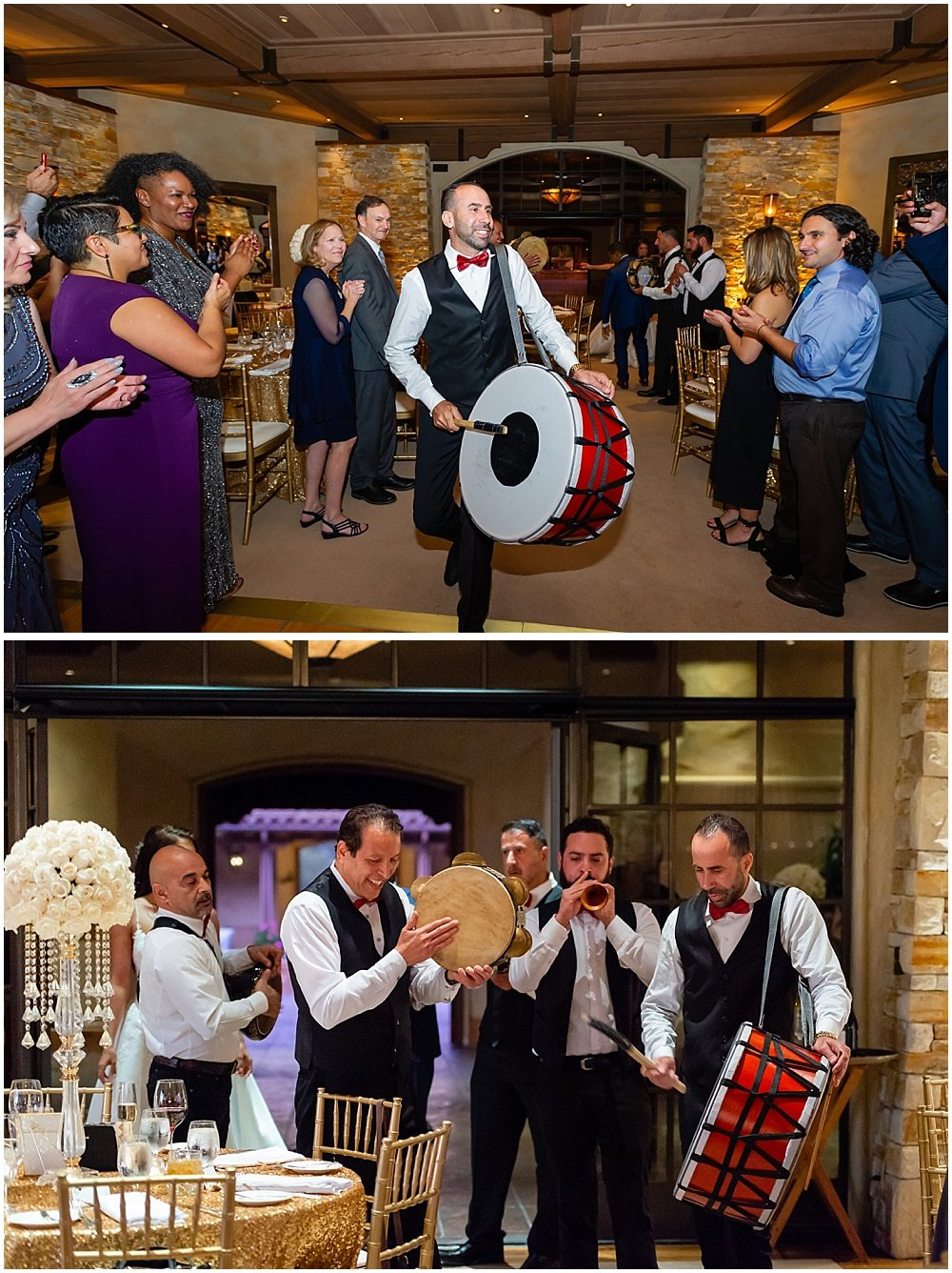 drummers at tehama golf club wedding