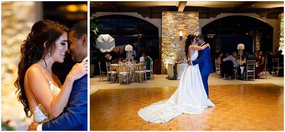 bride and groom dance at tehama golf club wedding