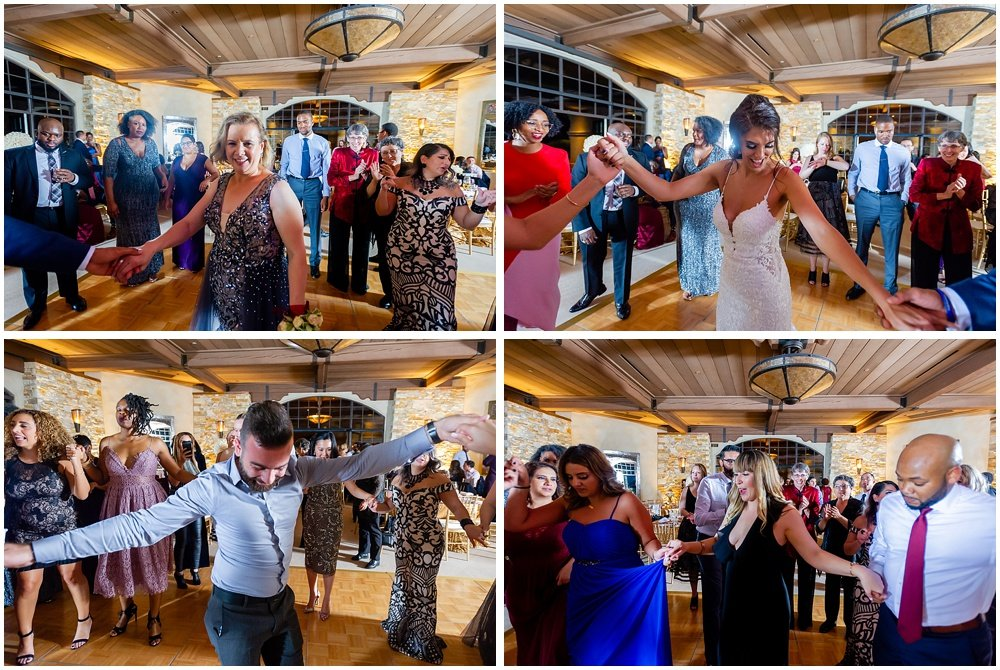 Group dance photos at tehama golf club wedding