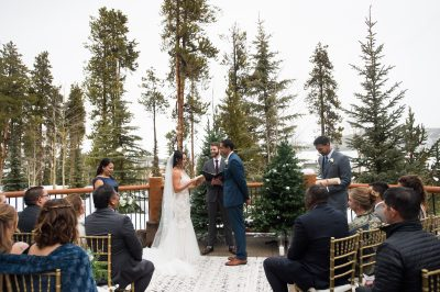 Bride and Groom at Breckenridge wedding by chloe jackman photography