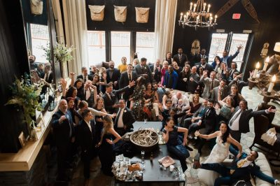 Group shot at Breckenridge wedding by chloe jackman photography