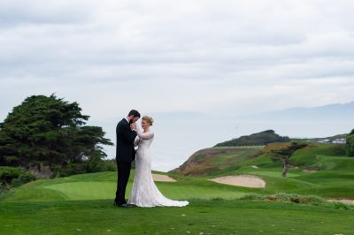 Groom kisses bride's hand before olympic club wedding by chloe jackman photography
