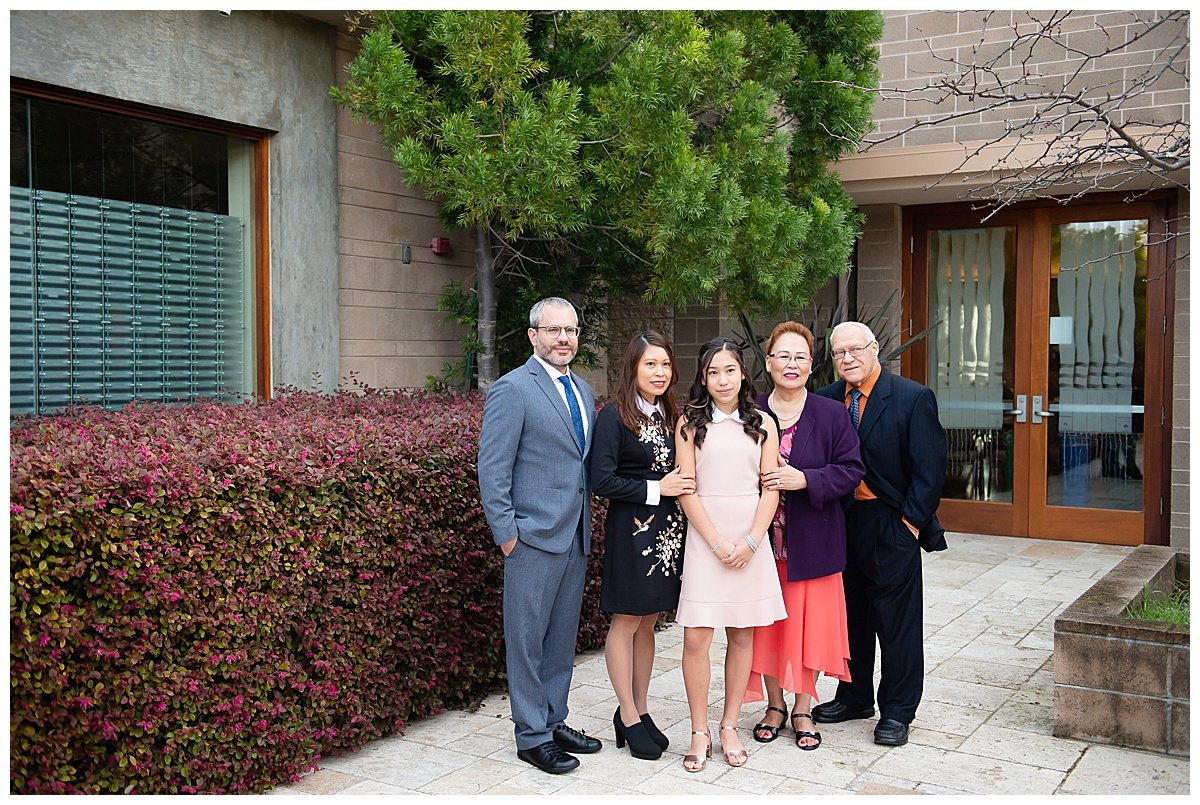 Maternal side photos before ceremony of Bay Area Bar and Bat Mitzvah photography by chloe jackman photography